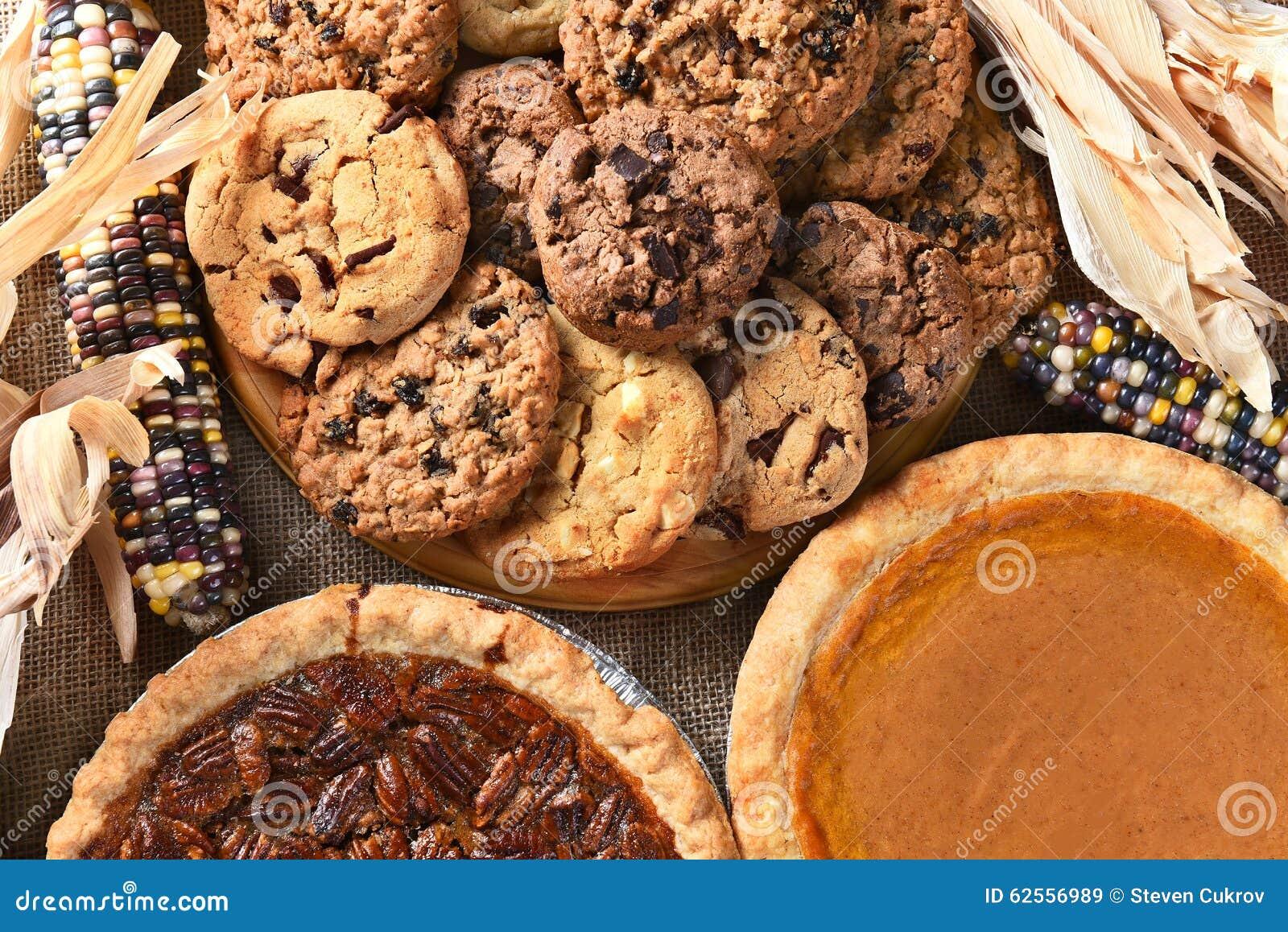 ... pies-cookies-day-feast-pecan-pie-pumpkin-pie-chocolate-chip-oatmeal