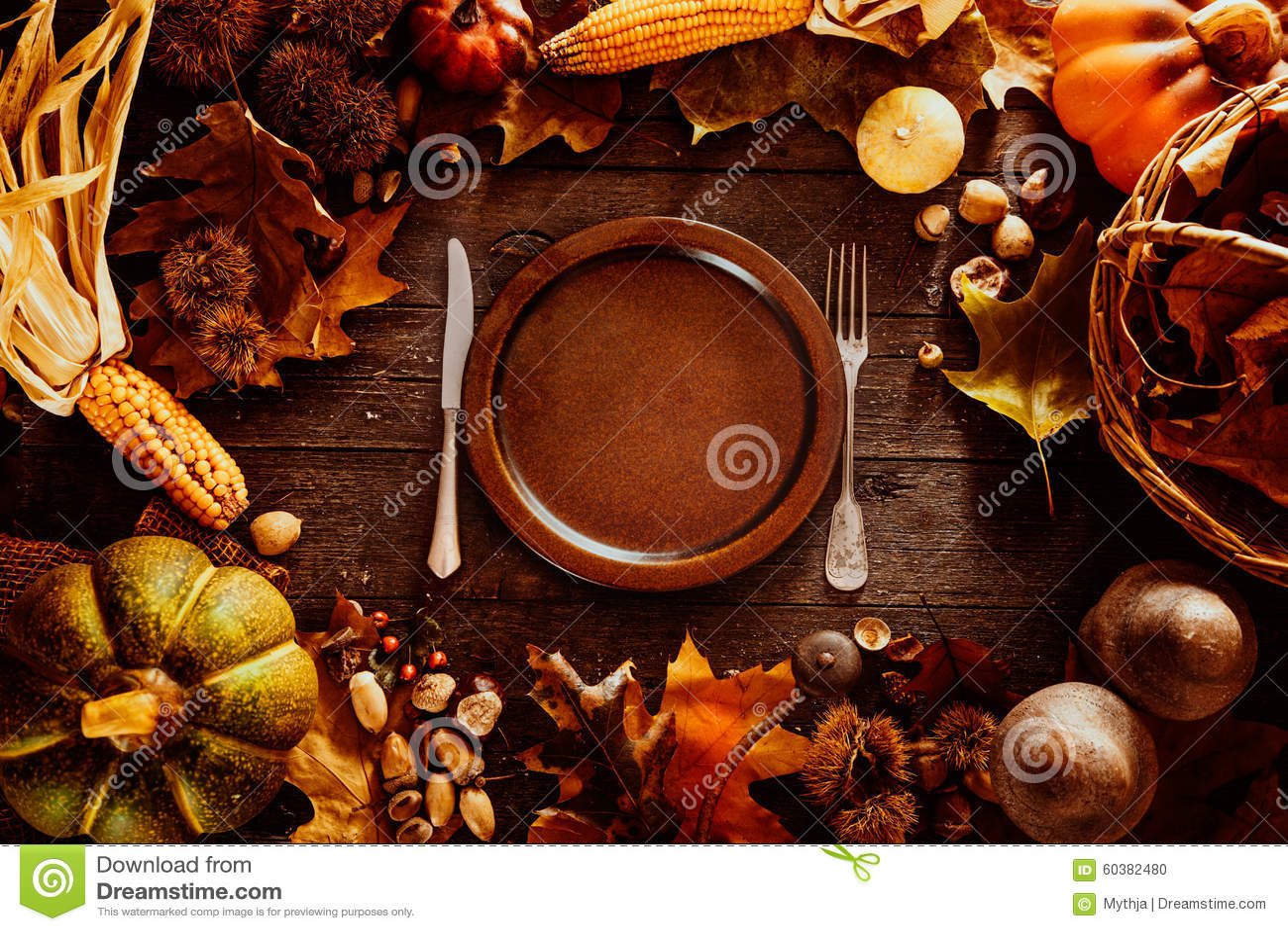 Thanksgiving Dinner Stock Photo Image 60382480