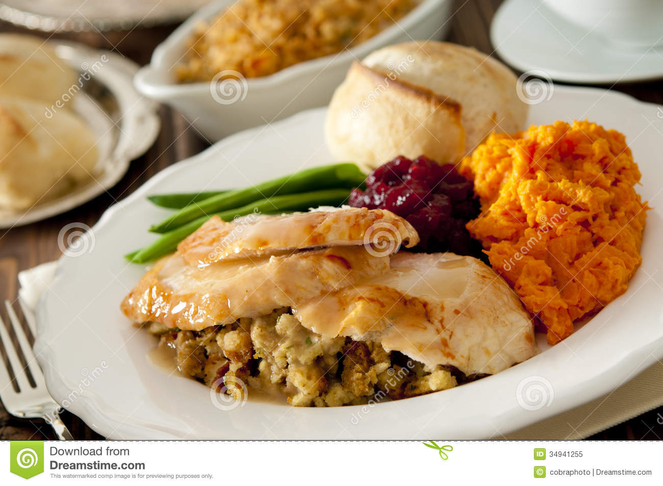 Thanksgiving Dinner Stock Image Image Of Meat Sweet
