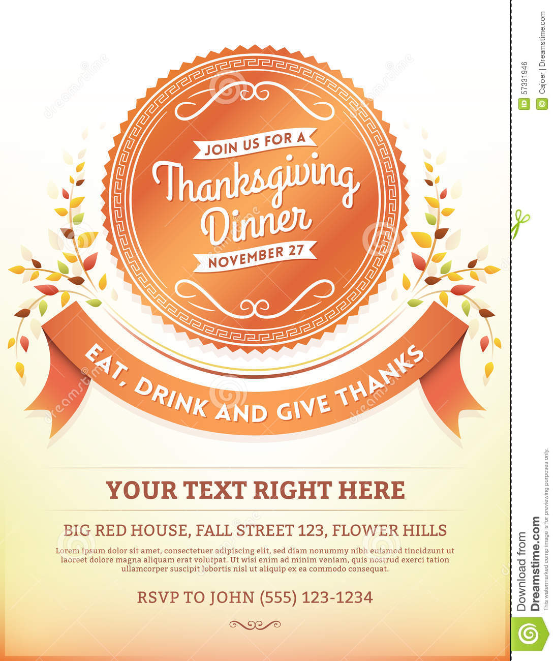 Thanksgiving Dinner Invitation as amazing invitation ideas