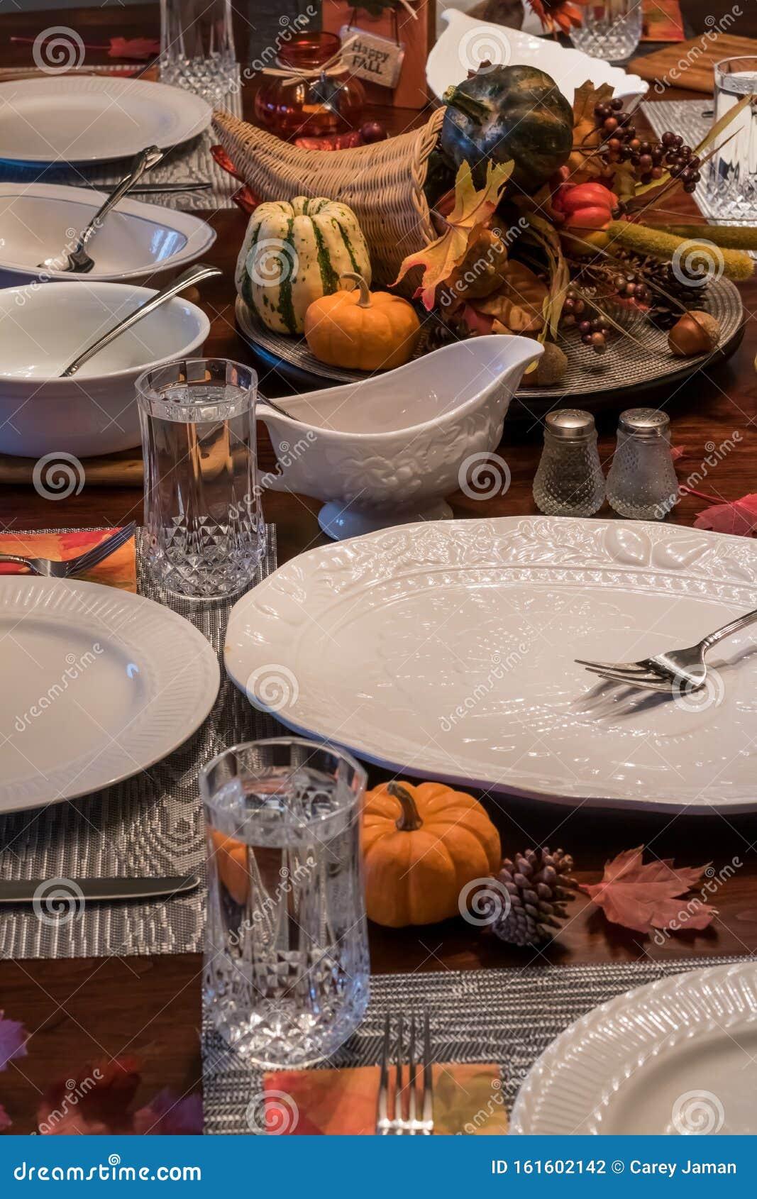 Thanksgiving dinner table stock photo. Image of gravy ...