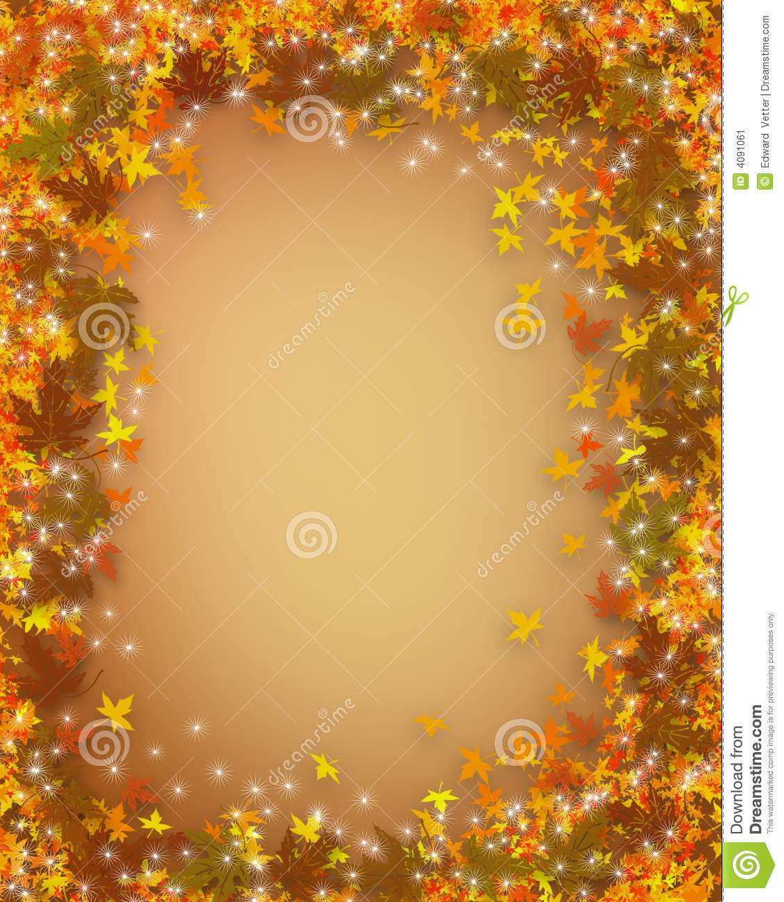 Thanksgiving Fall Autumn Border Stock Illustration