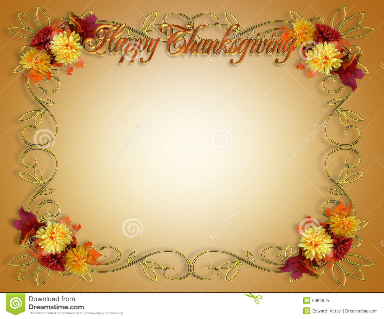 Thanksgiving Fall Autumn Border Royalty Free Stock Photo