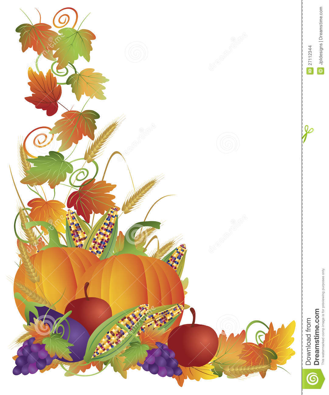 thanksgiving fall harvest and vines border stock vector corn on the cob clip art coloring corn on the cob clip art outline
