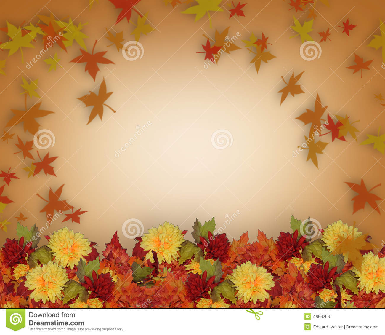 Thanksgiving fall leaves and flowers border design stock thanksgiving fall leaves and flowers border design toneelgroepblik Gallery
