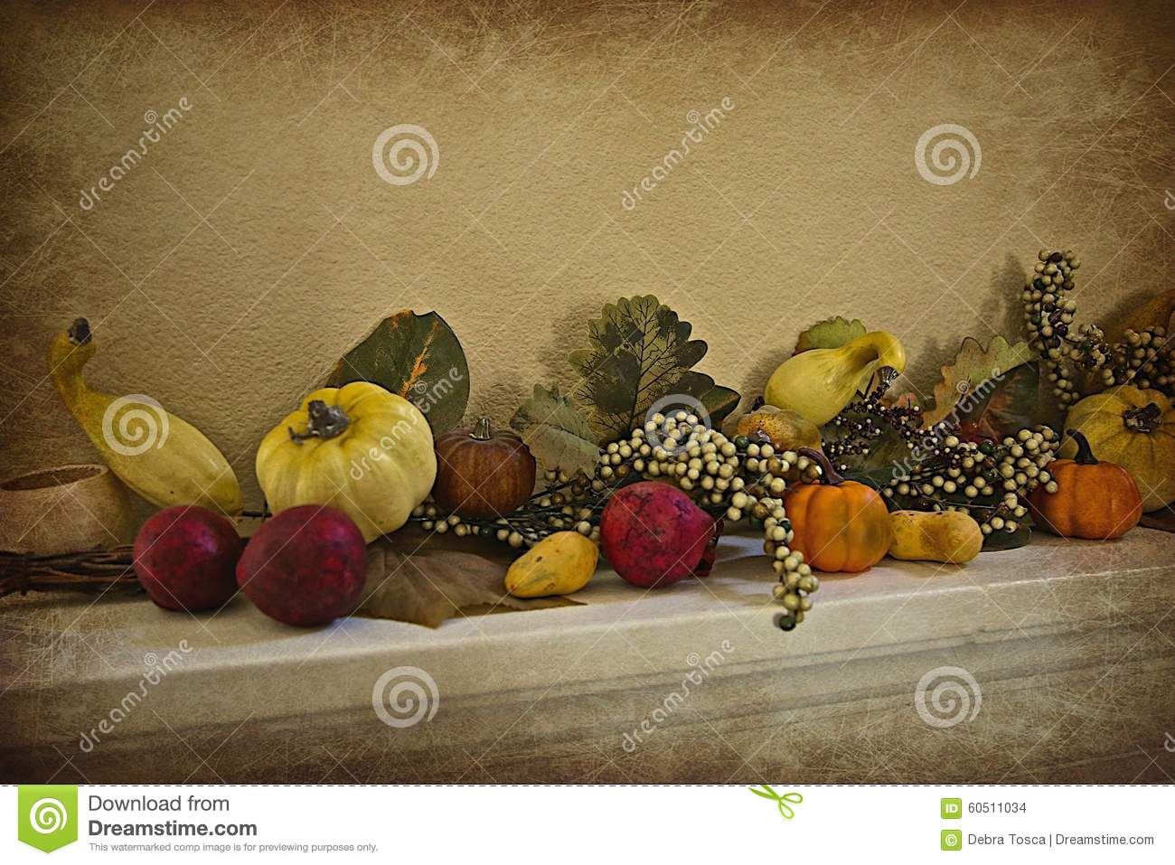Thanksgiving fall vegetable decoration stock photo image