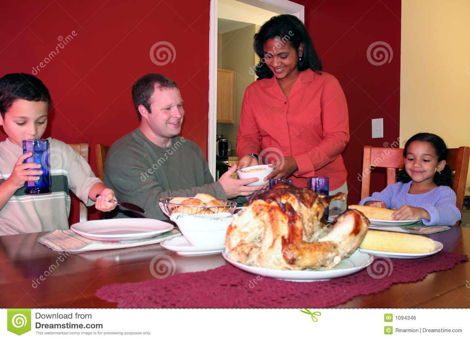 Thanksgiving Family Dinner Royalty Free Stock Image ...