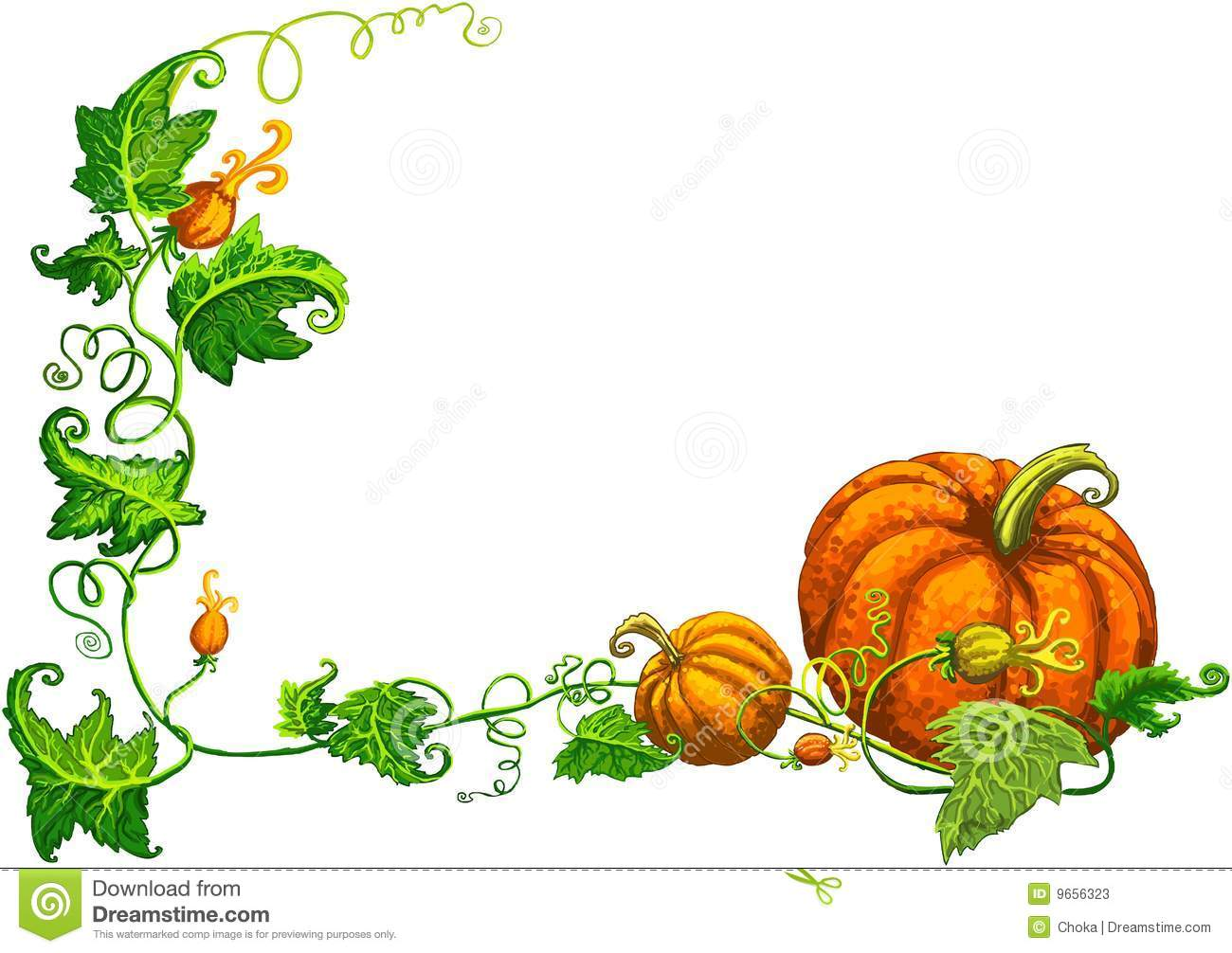 Decorating Ideas > Thanksgiving Frame With Nice Orange Pumpkins Stock Photos  ~ 065415_Thanksgiving Decorations Clipart