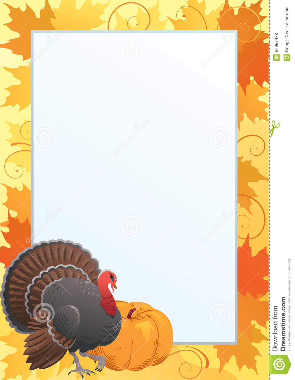 thanksgiving frame stock vector image 59957488 clip art of turkey and pumpkin clipart of turkeys