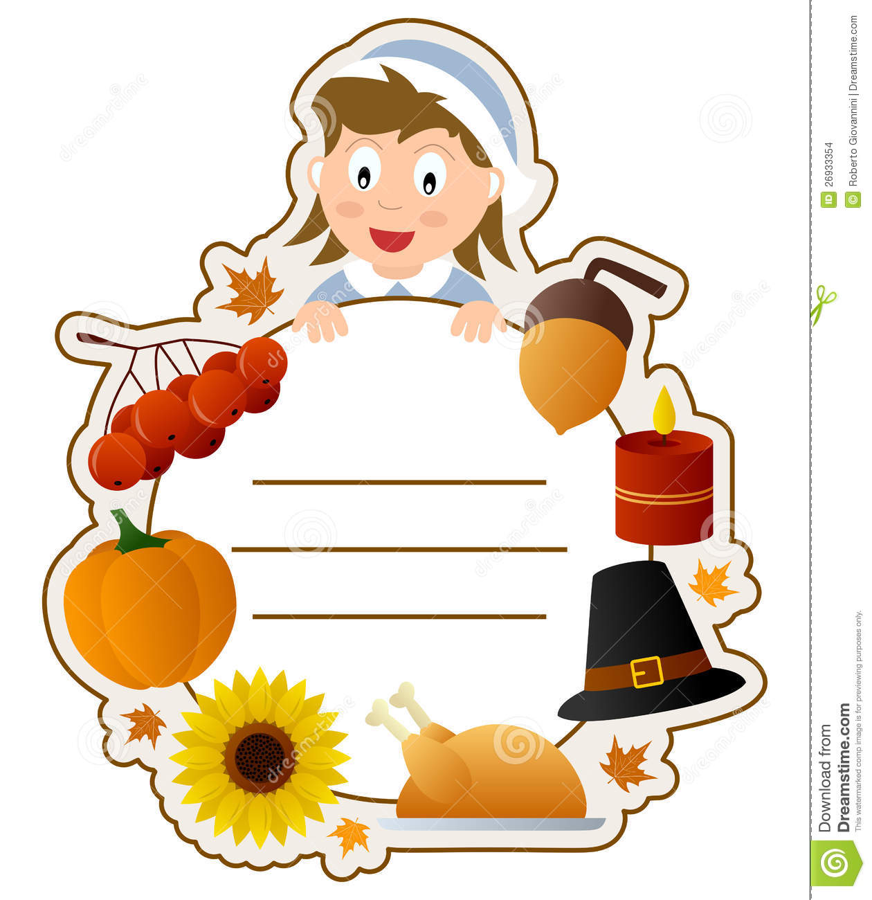 Thanksgiving Cookbook Cover : Thanksgiving girl book cover stock images image