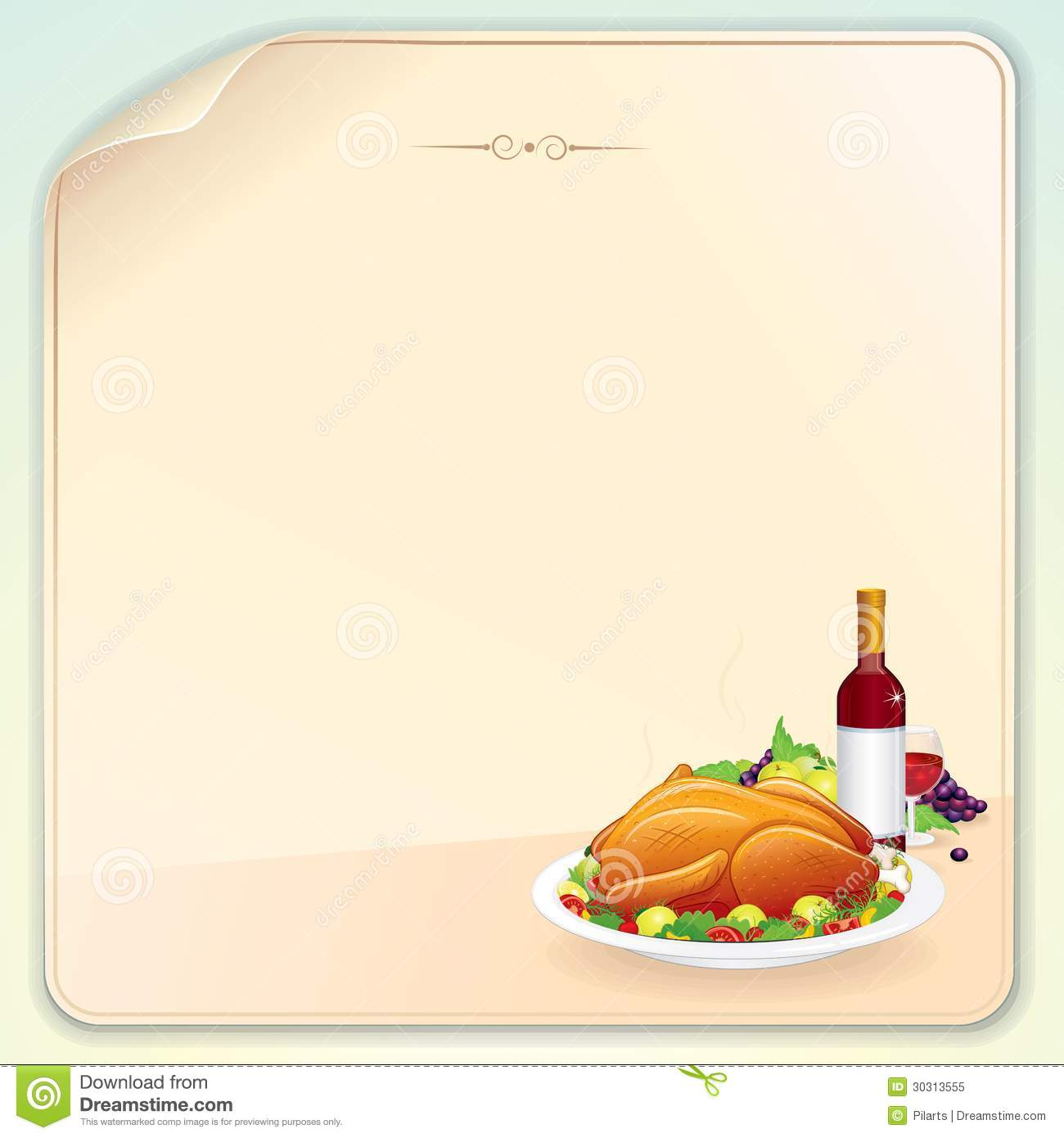 Thanksgiving greeting card stock vector illustration of bird 30313555 thanksgiving greeting card spiritdancerdesigns Image collections