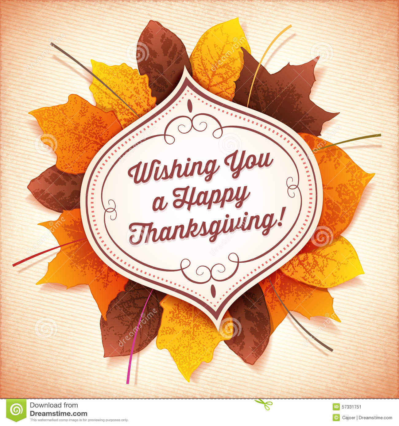 Thanksgiving greeting card with a white label and autumn leaves download thanksgiving greeting card with a white label and autumn leaves stock vector illustration of m4hsunfo