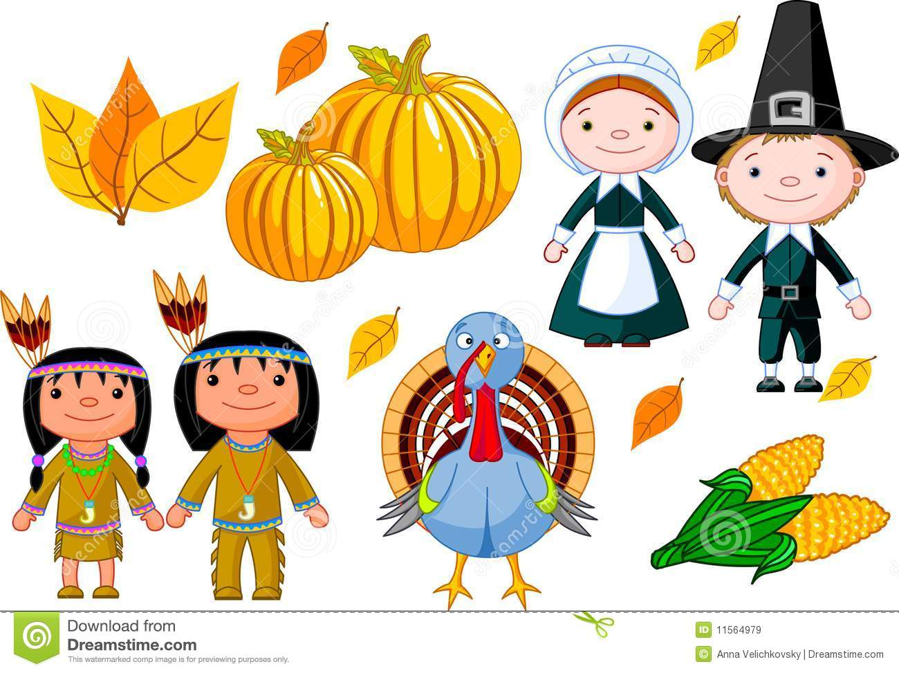 Thanksgiving Icon Set Royalty Free Stock Images - Image: 11564979