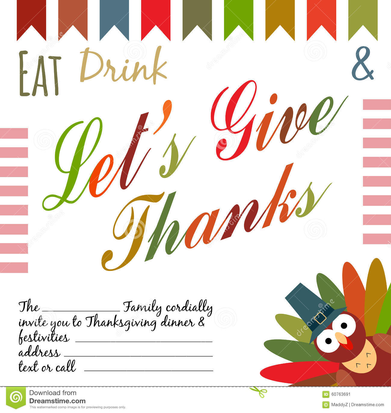 Thanksgiving Invitation Stock Vector Illustration Of