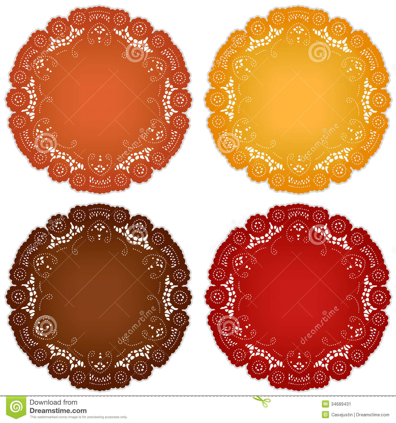 Lace Doily Place Mats Stock Image Image 34689431
