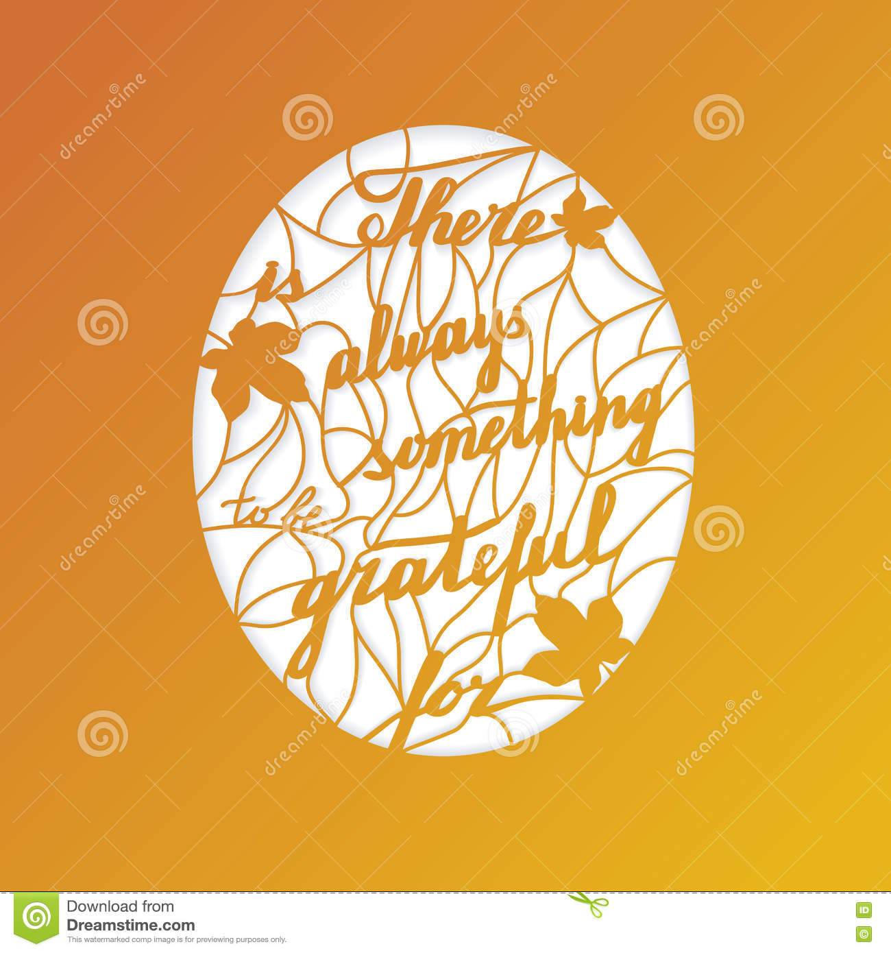 Thanksgiving Laser Cutting Template Stock Vector Illustration Of