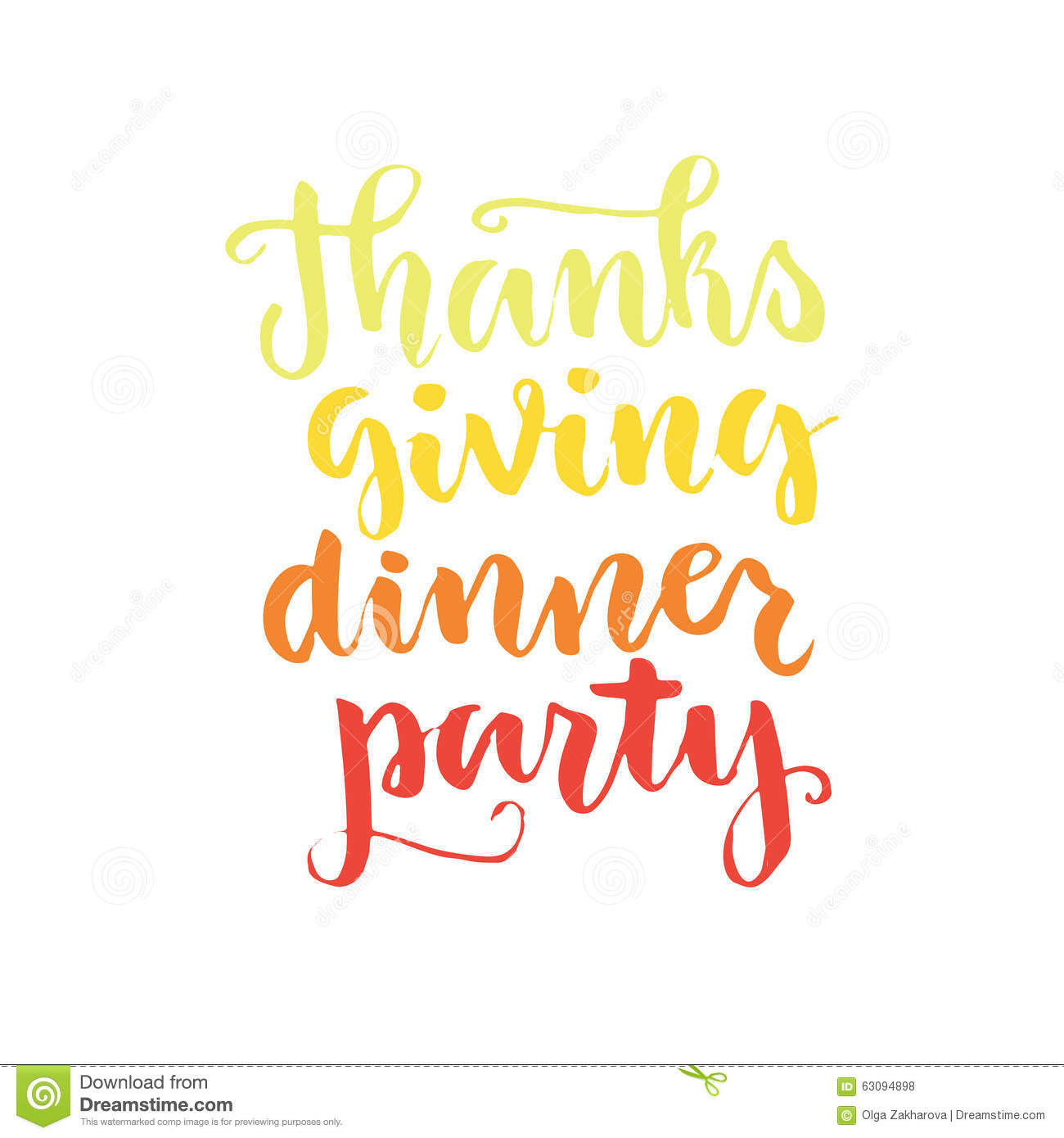 Thank You Quotes For Dinner Party: Thanksgiving Lettering Stock Vector