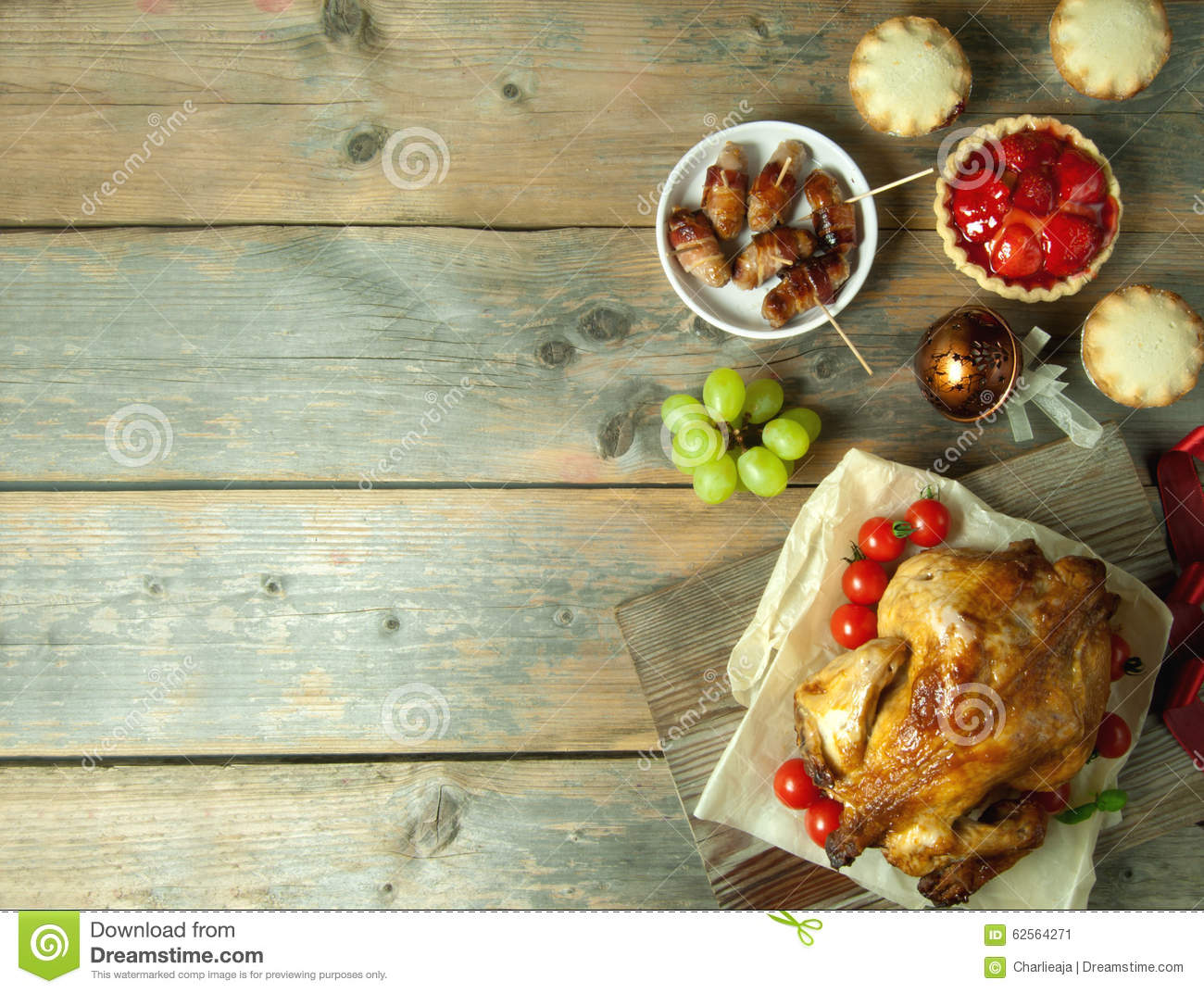Thanksgiving Meal Background With Space