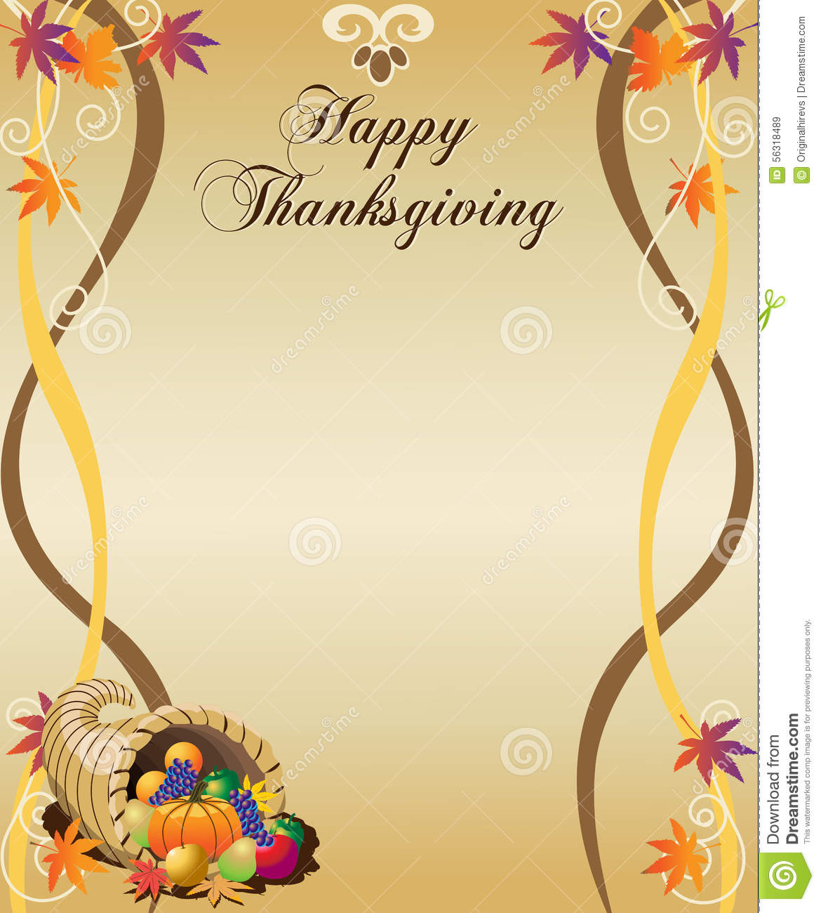 thanksgiving menu stock vector illustration of ribbon 56318489