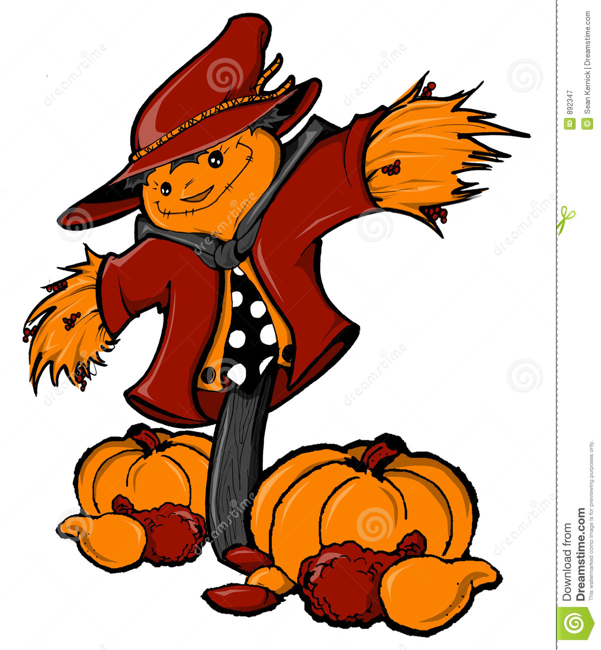 Thanksgiving Scarecrow Royalty Free Stock Photography - Image: 892347