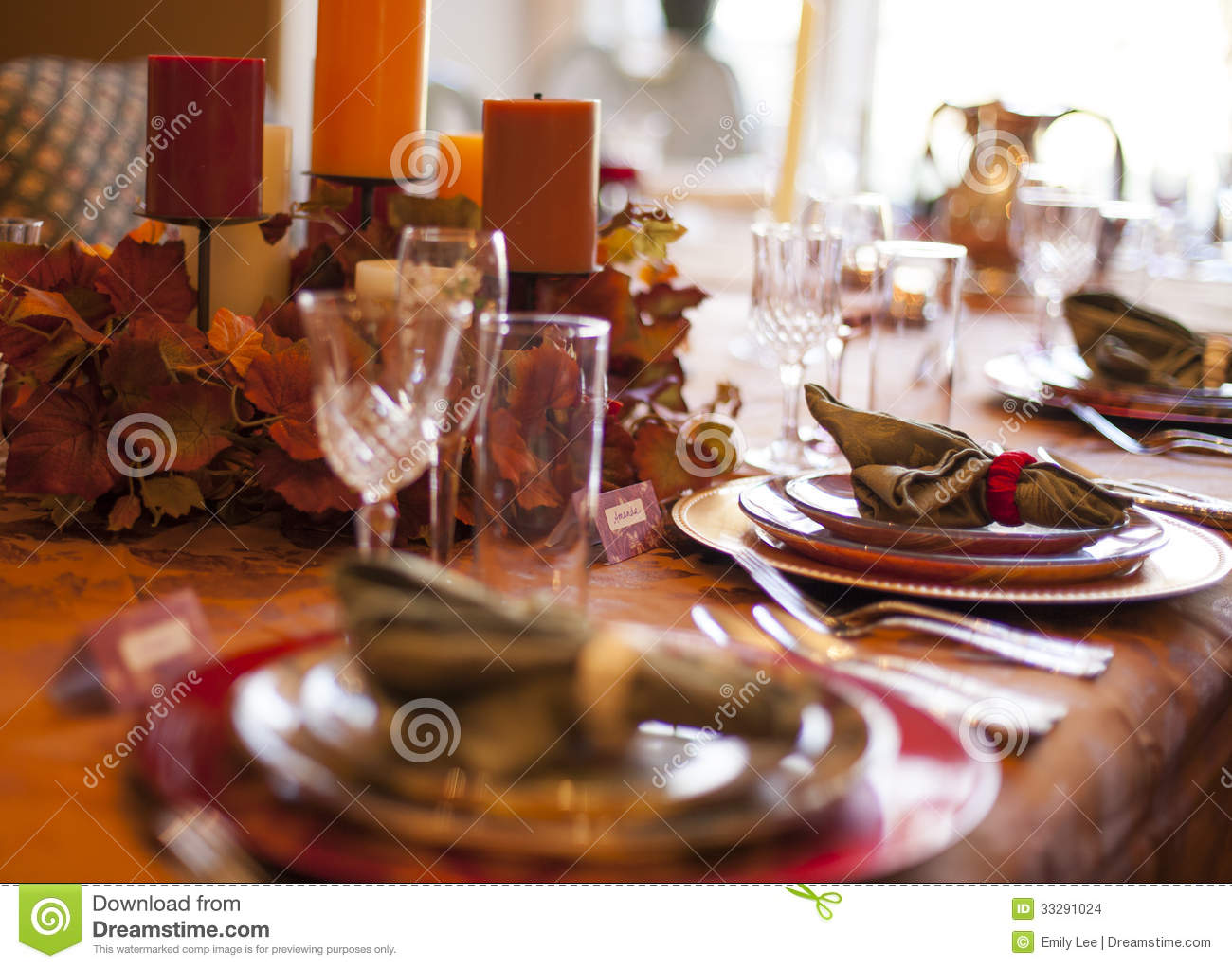 Thanksgiving table stock photo image of dinner autumn How to set a thanksgiving dinner table
