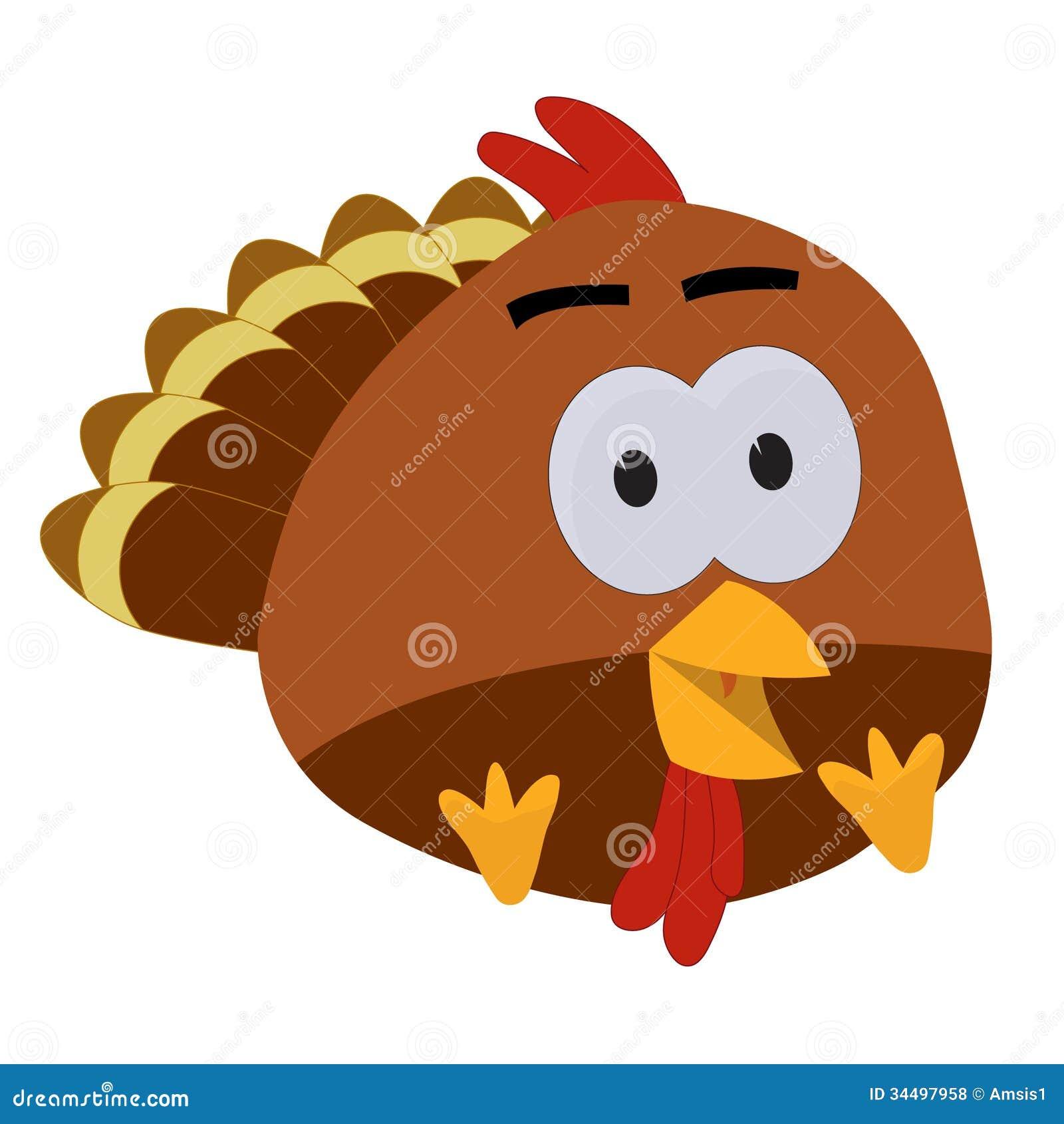 Thanksgiving Baby Turkey Cartoon Stock Illustration Illustration