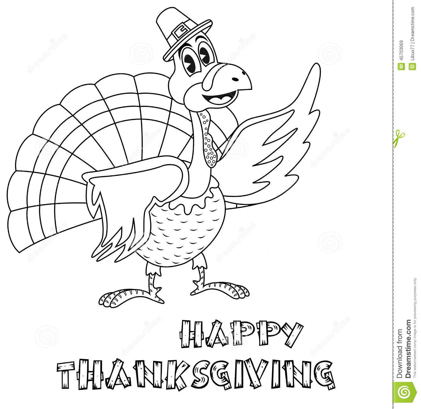 Thanksgiving Abstract Coloring Pages : Thanksgiving turkey coloring page stock vector image