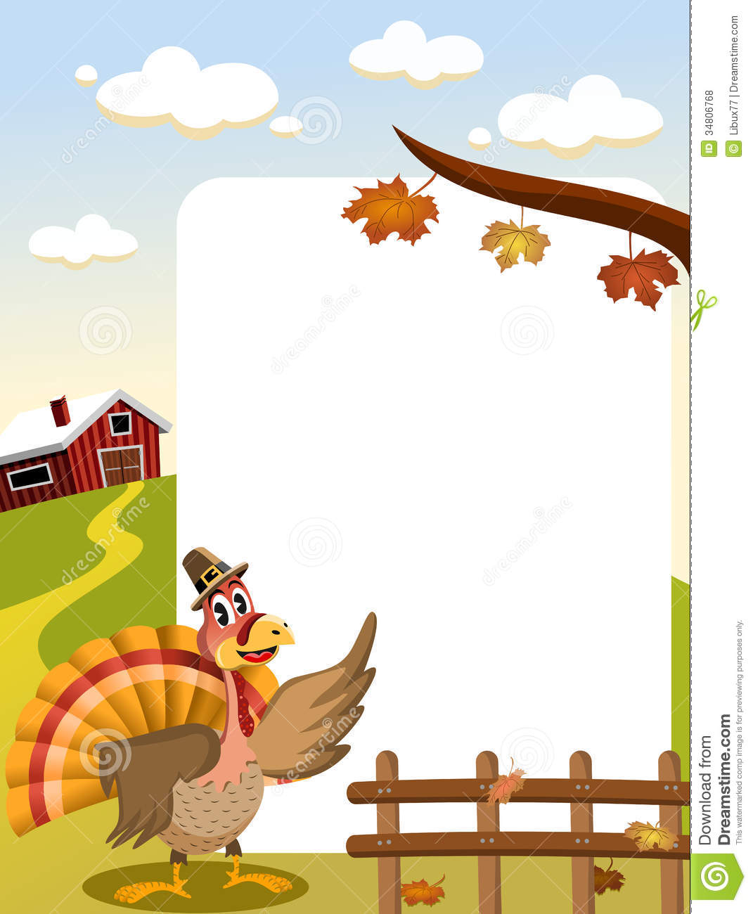 Thanksgiving Turkey Frame stock vector. Illustration of outdoor ...