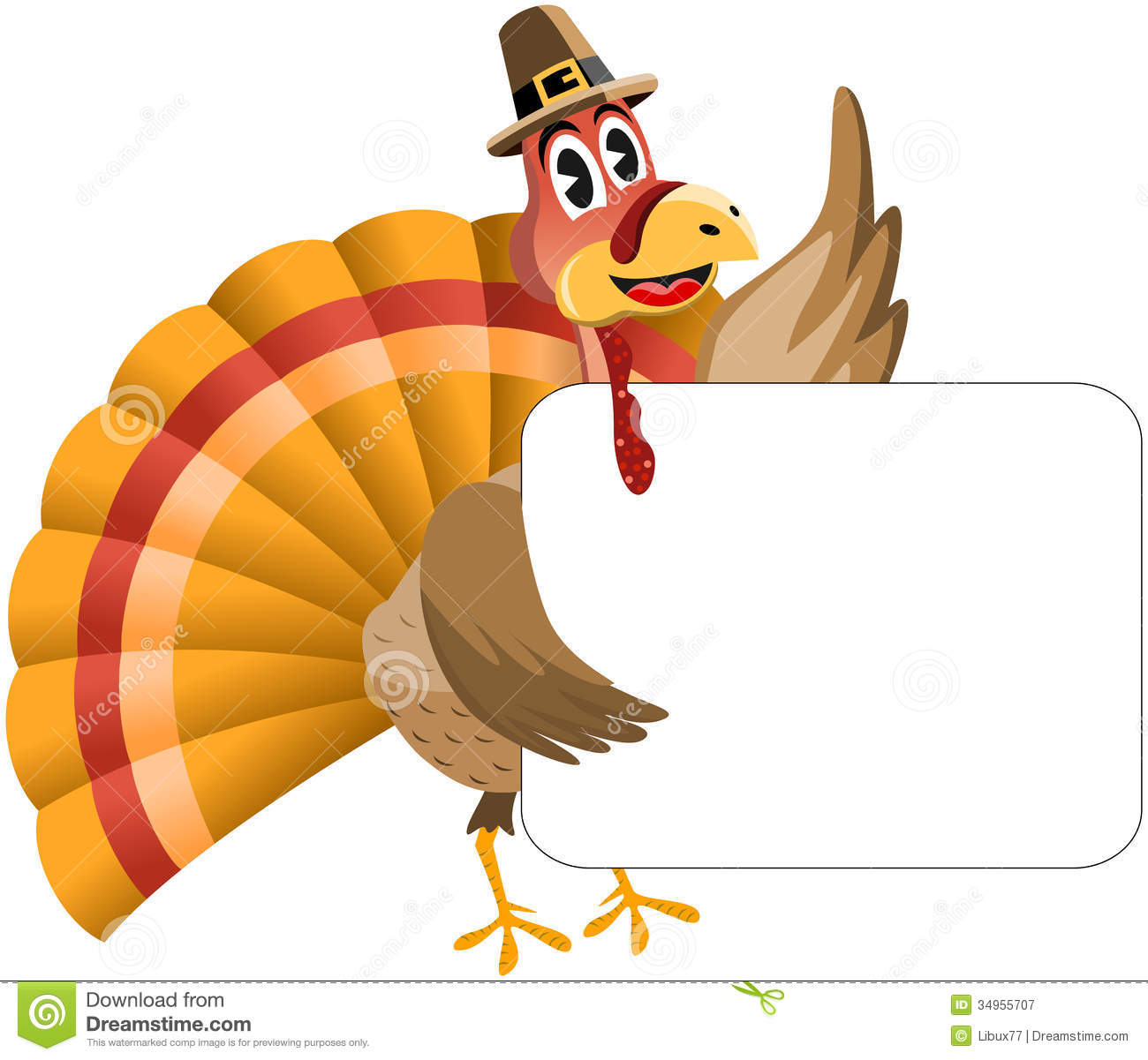 Thanksgiving Turkey And Banner Stock Photography - Image: 16638572