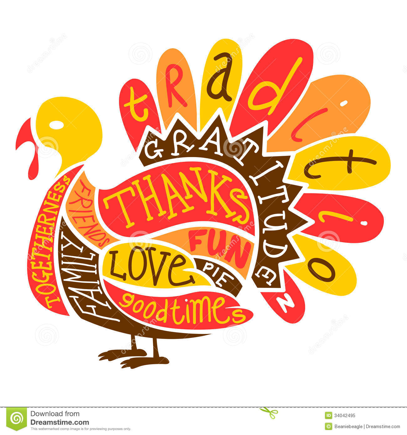thanksgiving turkey stock vector illustration of november 34042495 rh dreamstime com free clipart thanksgiving blessings free clip art thanksgiving borders