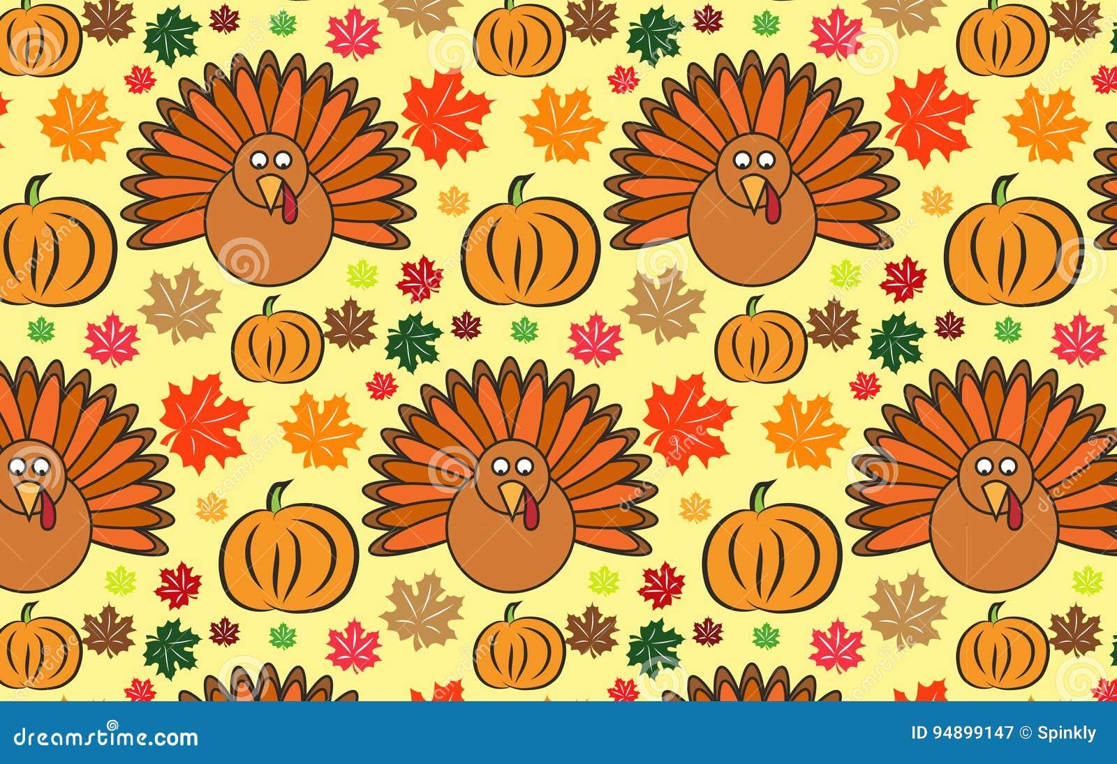 Thanksgiving Wallpaper Stock Image Illustration Of Clipart