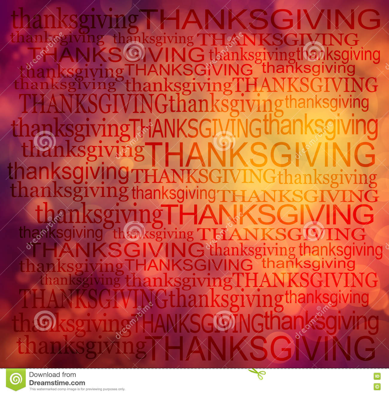 Thanksgiving word cloud background