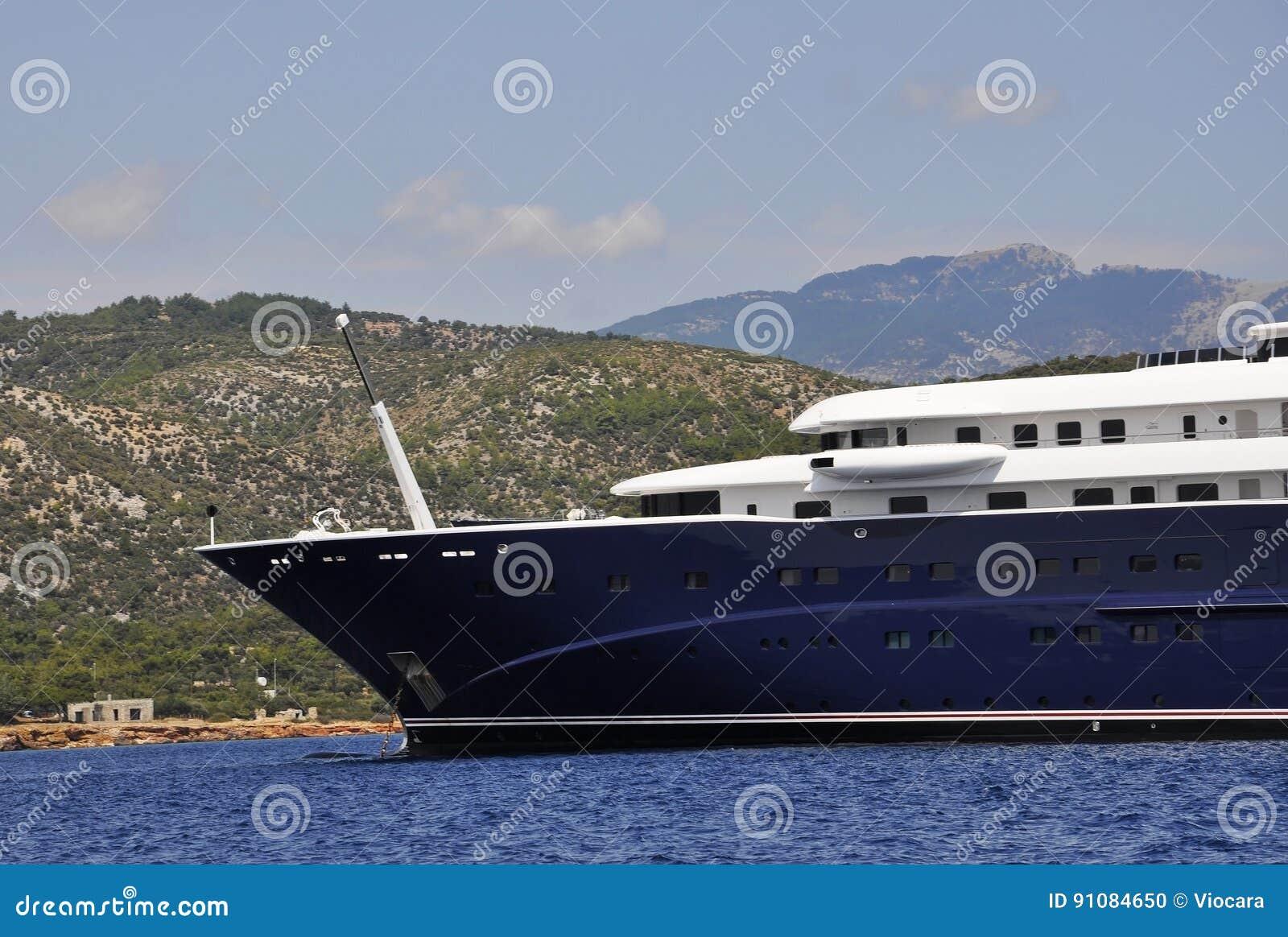 Thassos, August 21st: Cruise Ship on the Aegean Sea near Thassos island in Greece