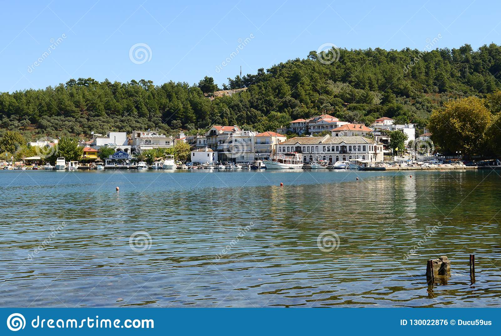 Beautiful View Of Thassos Town Limenas In Thassos Island