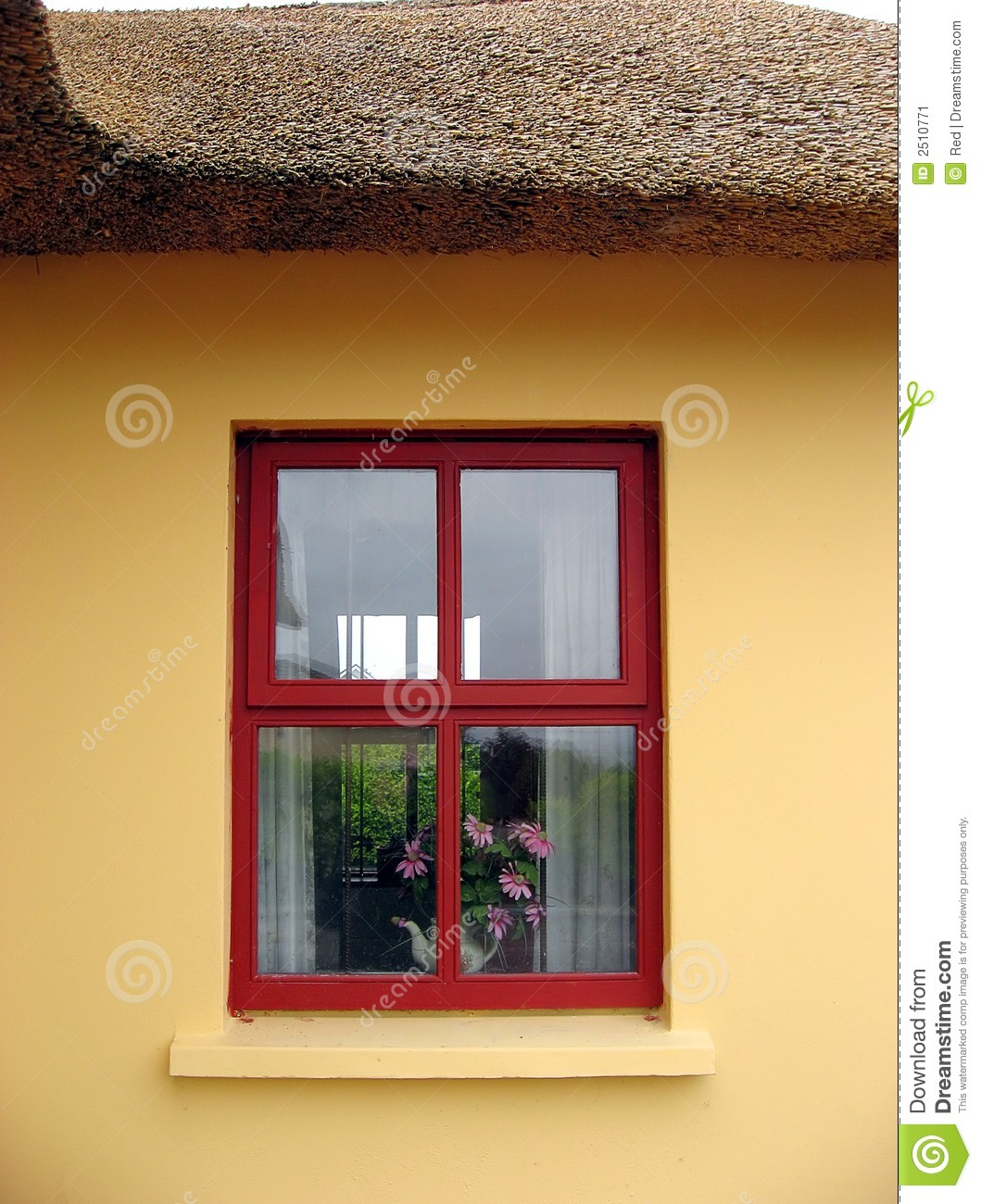 Thatch Cottage Irish Window Stock Image Image Of Country