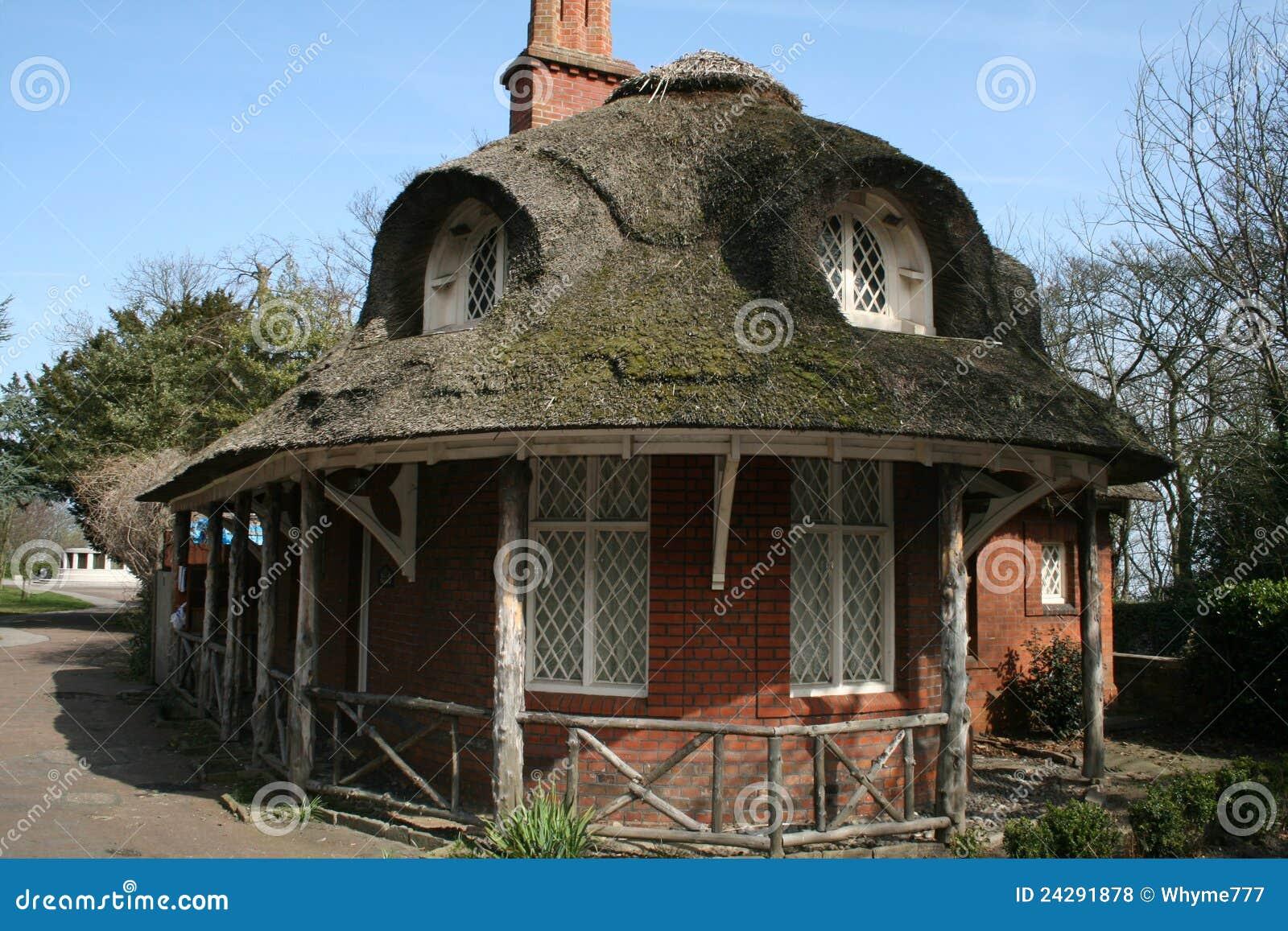 Thatch Roof Cottage Stock Photo Image Of Windows Brick