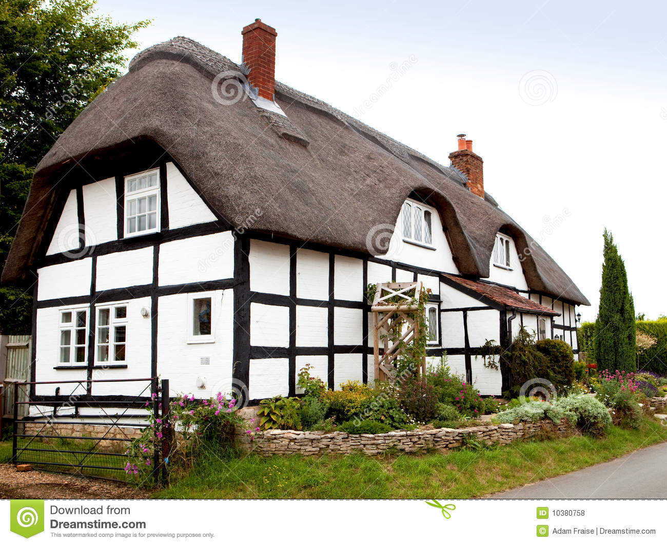Thatched Cottage Royalty Free Stock Photos Image 10380758