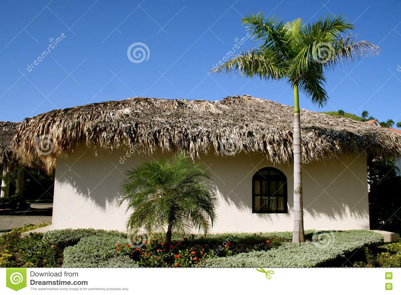 Thatched Grass Roof House Stock Photos Image 14002783