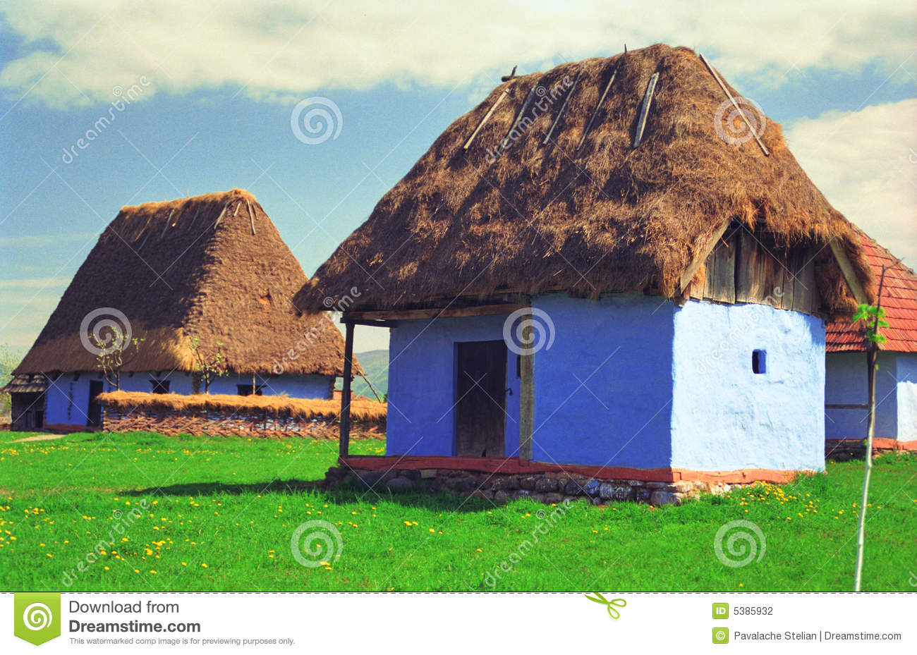 Thatched Houses Stock Photography Image 5385932