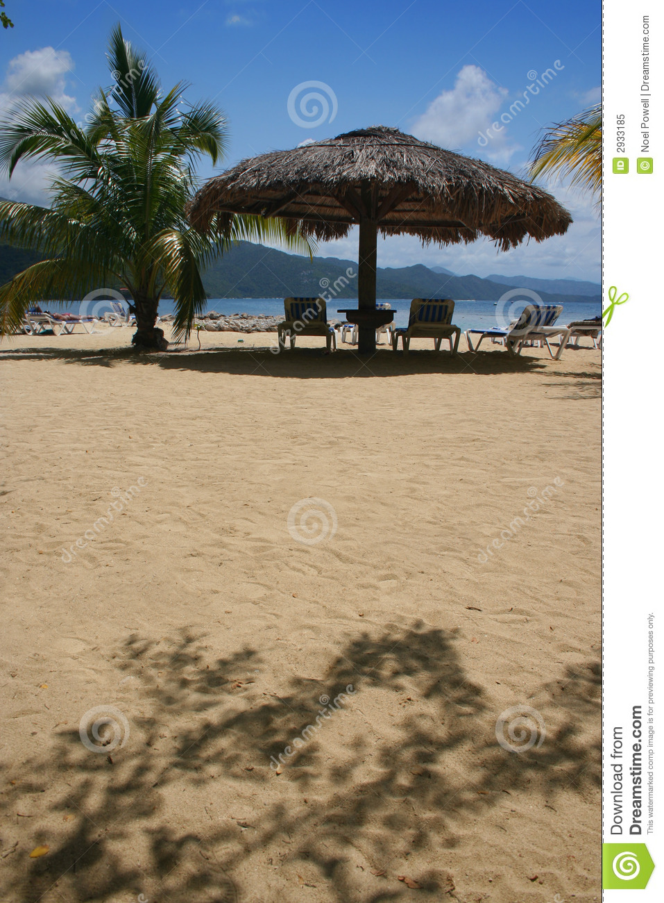 Thatched-Roof Beach Umbrella