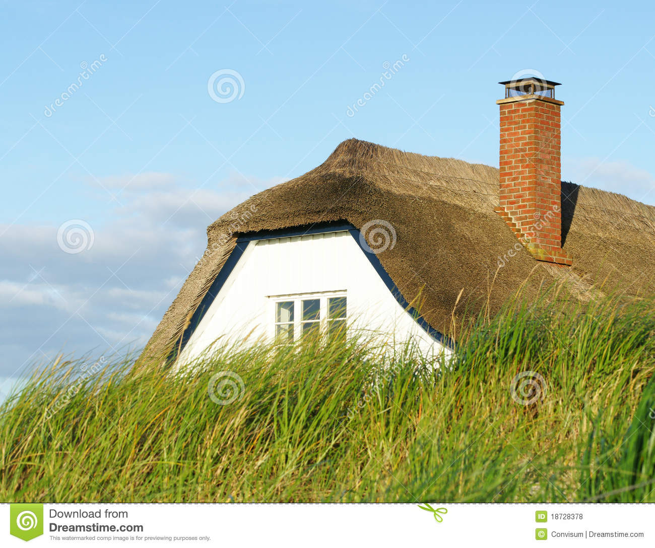 Thatched Roof Cottage Royalty Free Stock Photos Image