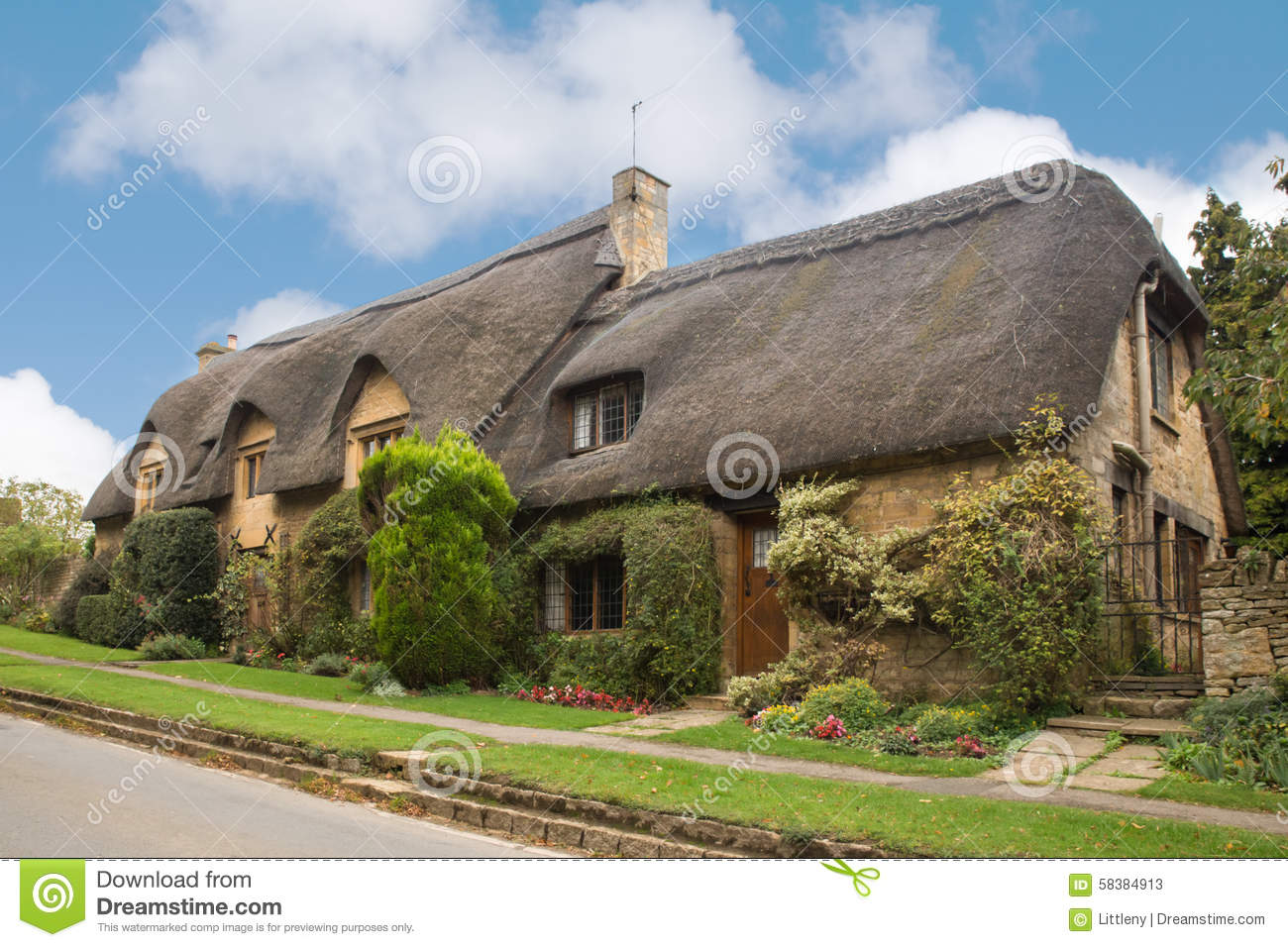 Thatched Roof England Stock Image Image Of Beautiful