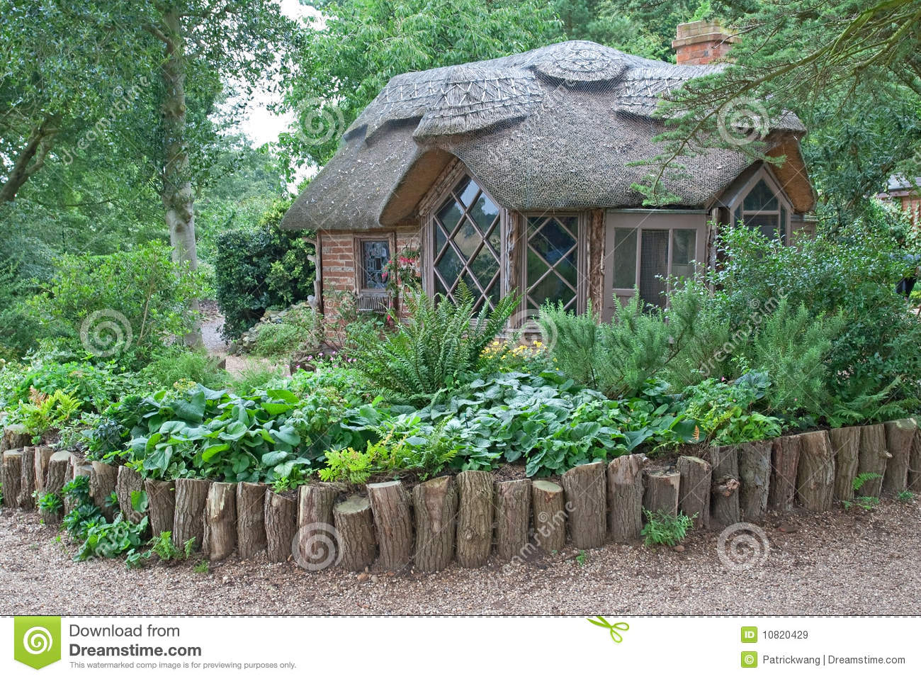 Thatched roof house royalty free stock images image for Thatched house plans