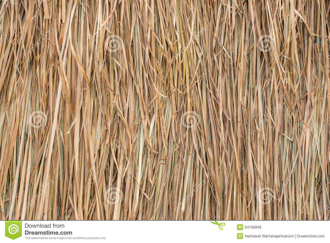 Thatched Roof Made From The Leaves Of Grass Stock Photo