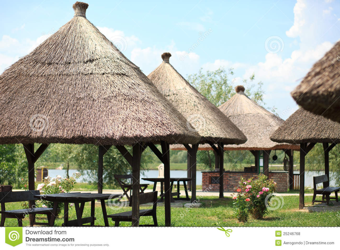 Thatched tak