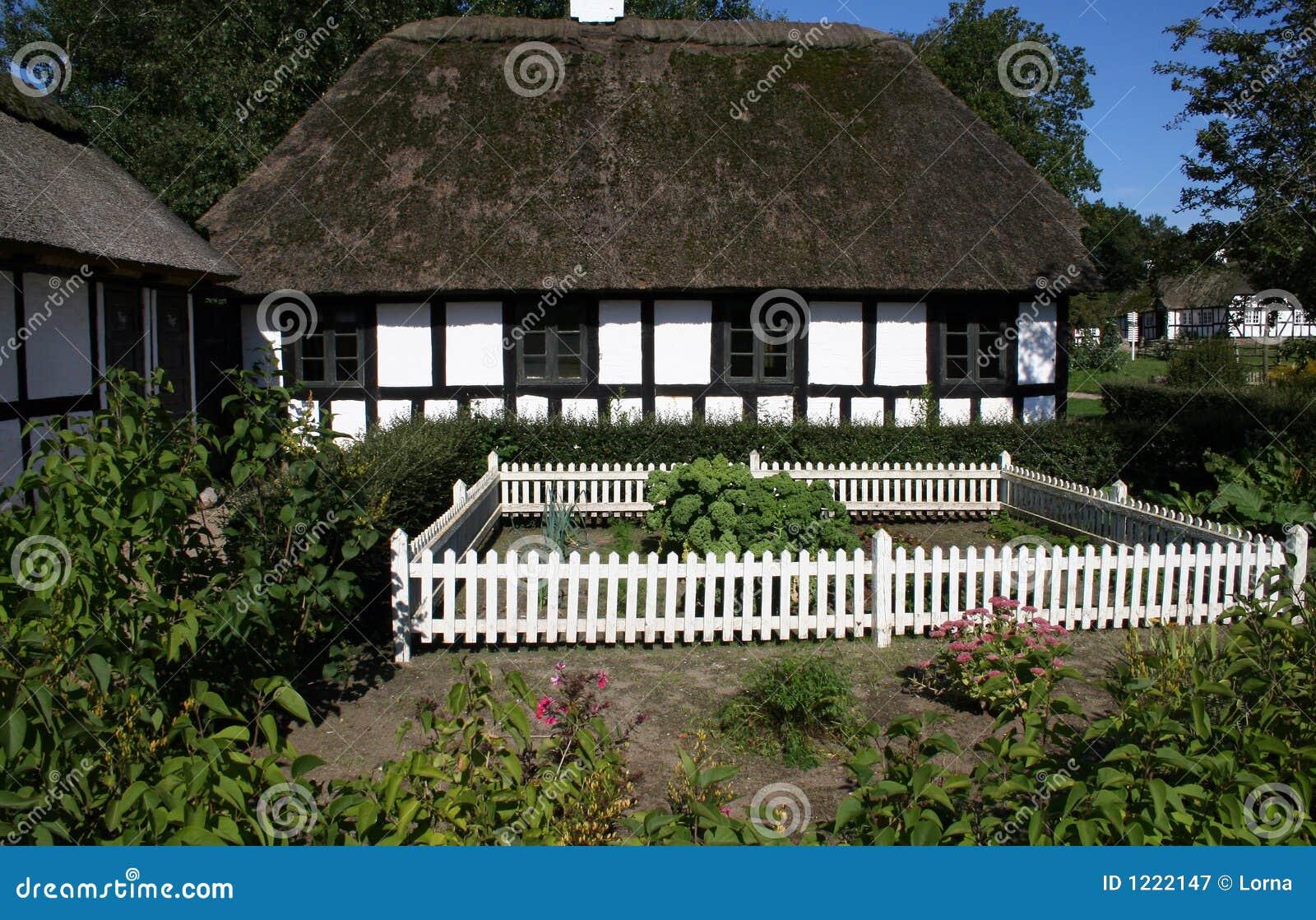 Thatched tudor style cottage stock image image 1222147 Tudor style fence