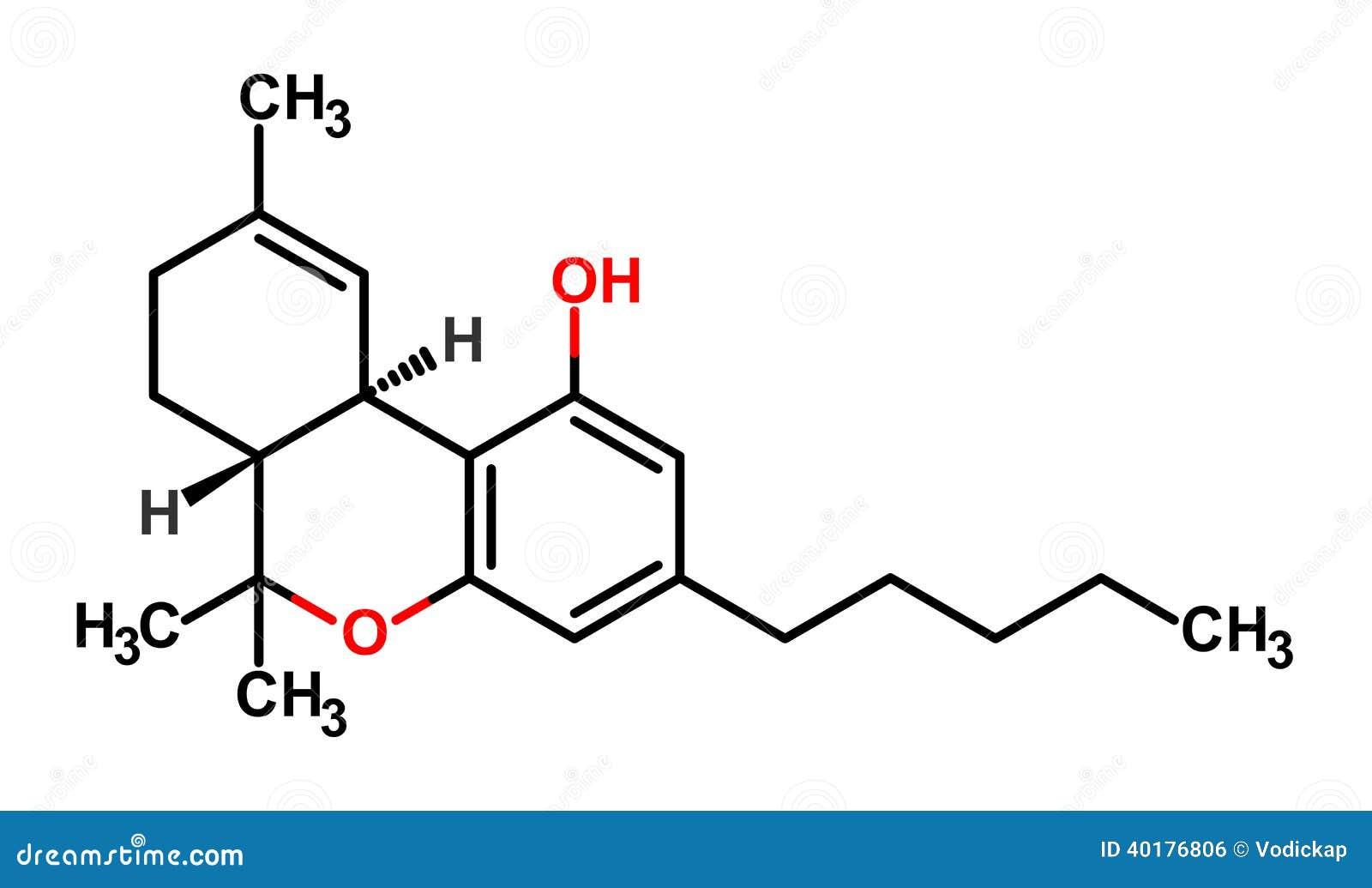 Thc Formel Vektor Abbildung Illustration Von Kohlenstoff