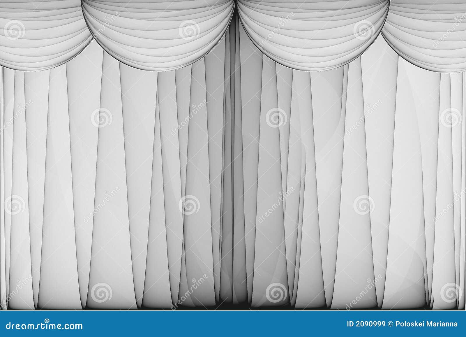 Theater Curtain Stock Image. Image Of Movie, Elegant