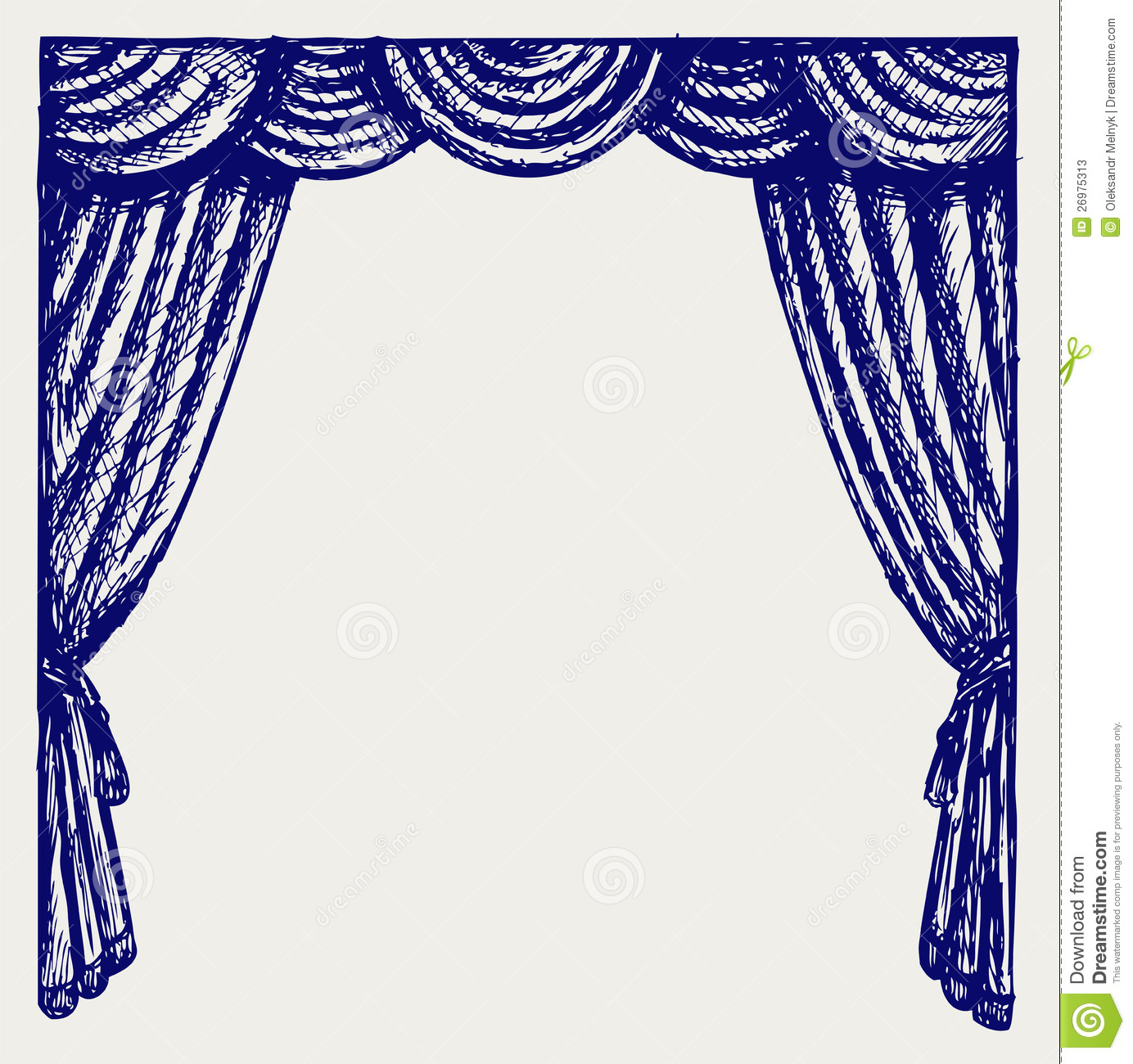 Theater Curtain Stock Vector Illustration Of Icon Classic