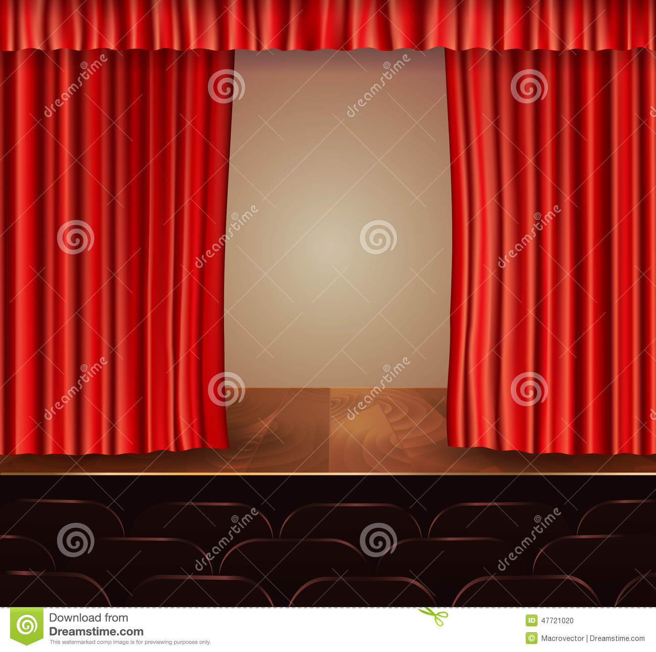 Stage curtain background open stage curtains background red stage - Theater Stage With A Red Curtain And A Spotlight Background Curtain
